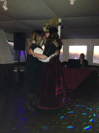 Pirate themed wedding on a boat